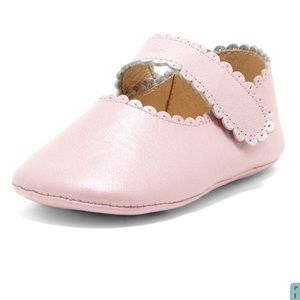 Metallic Pink Mary Jane Baby Flats - NEW